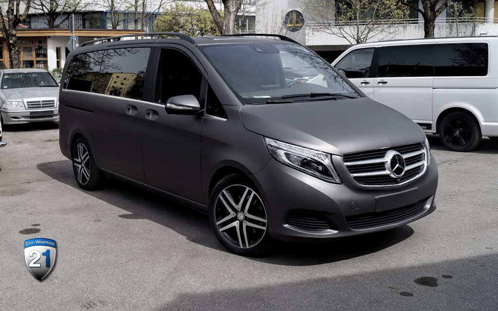 Mercedes - Benz Viano Dunkelgrau Matt Kfz Folierung