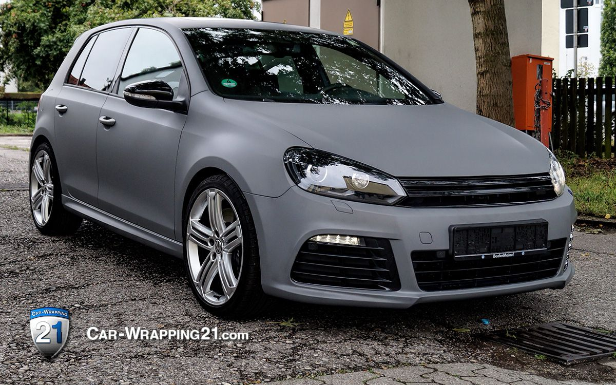 VW Golf Folie Grau matt