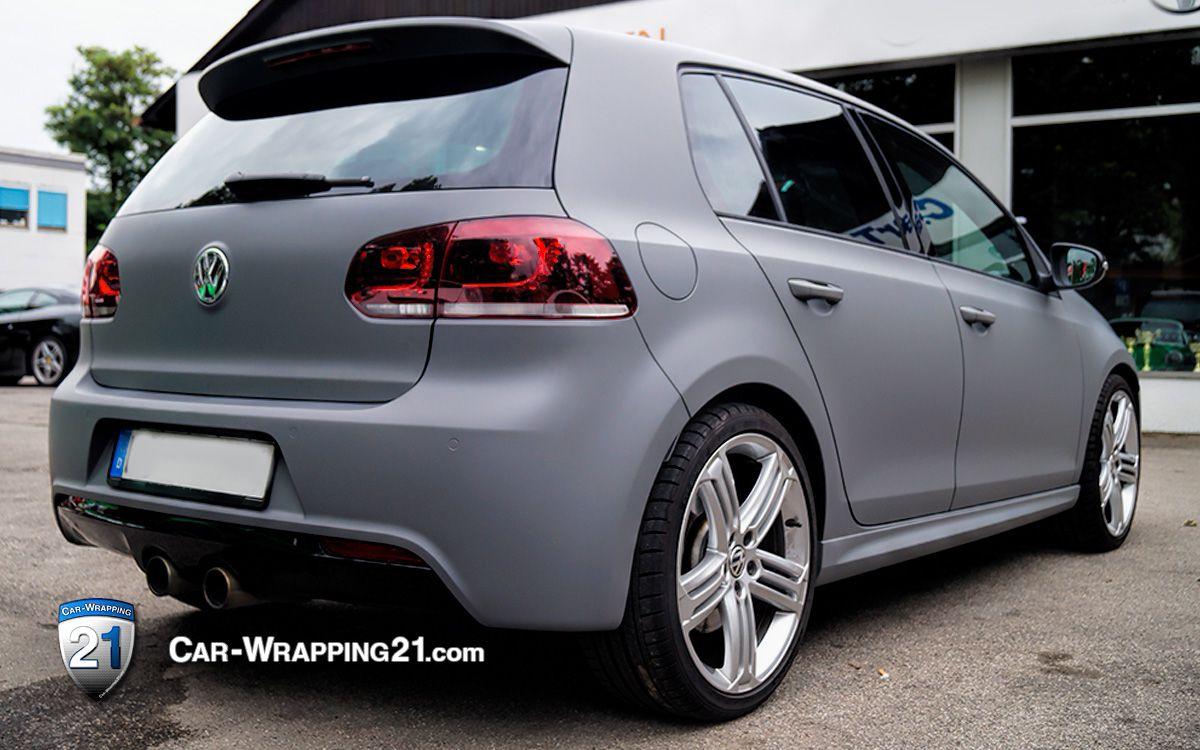 Folierung  VW Golf  Folie grau matt  Car Wrapping 21