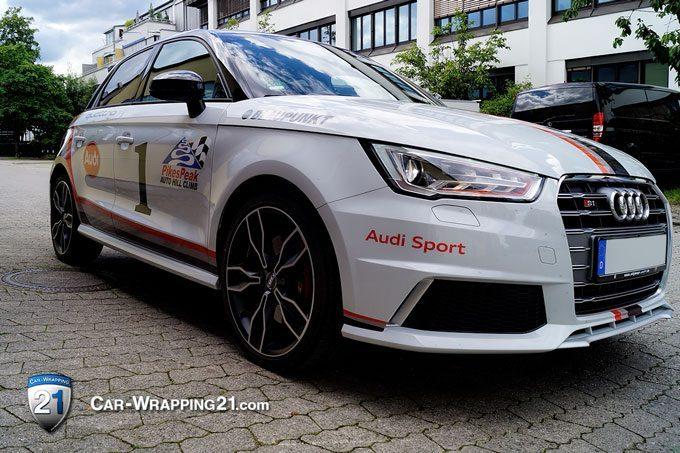 Folierung Audi S1 Quattro Design Pikes Peak