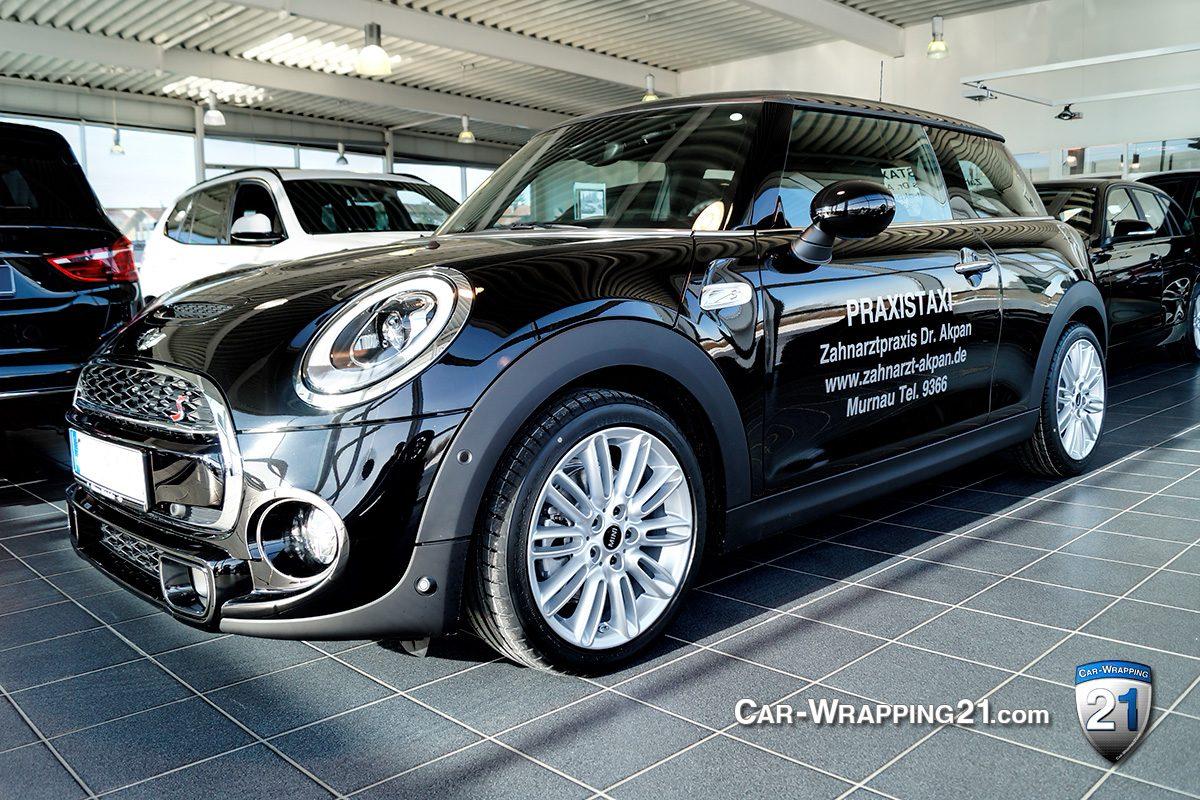 Mini Cooper s heckscheibenaufkleber Autobeschriftung Car Wrapping 21 München