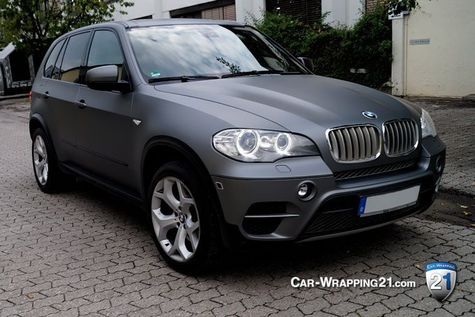 fahrzeugfolierung bmw x5 matt m nchen wrapping 21. Black Bedroom Furniture Sets. Home Design Ideas