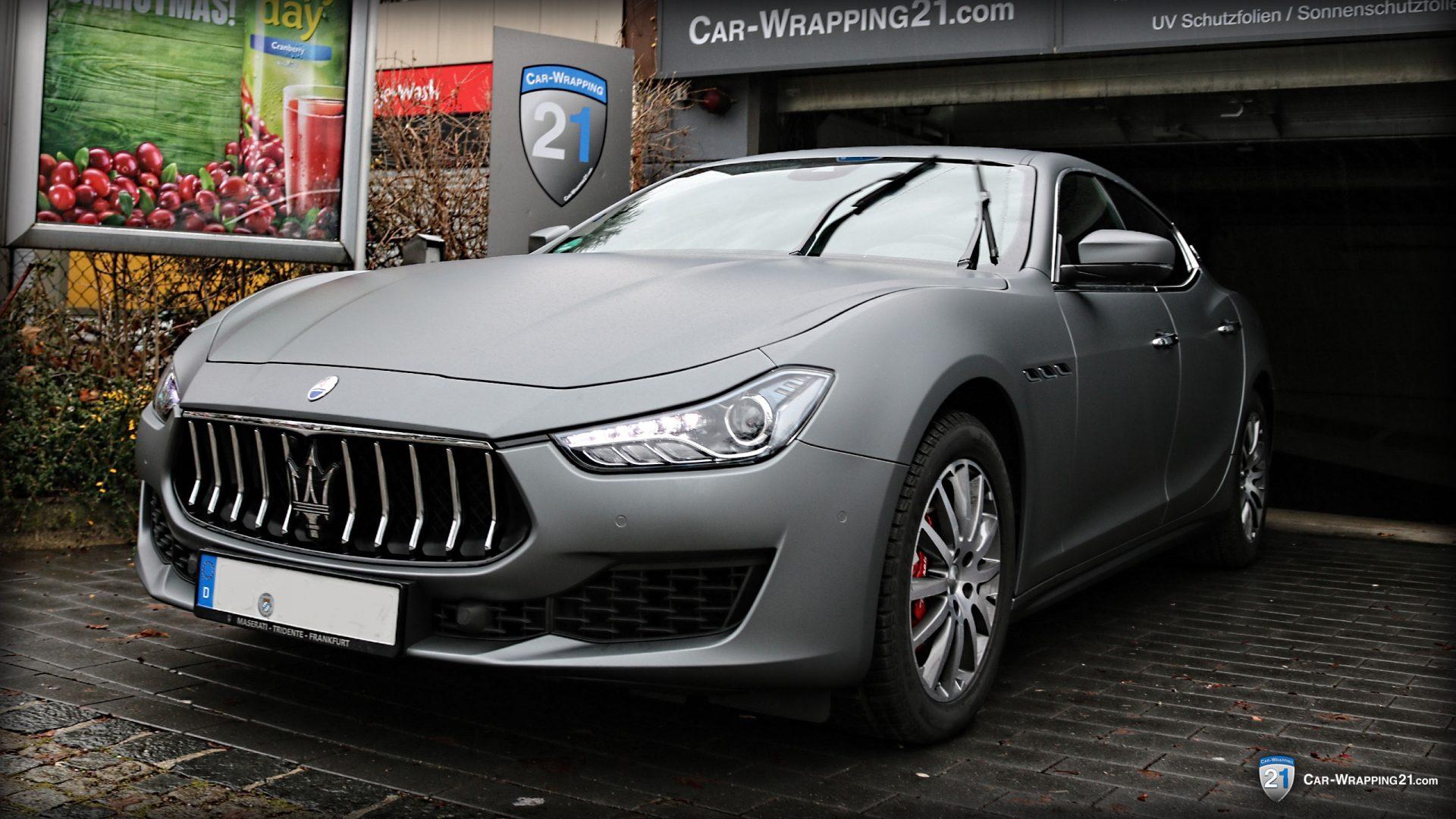 Autofolierung - Maserati Ghibli - grau matt